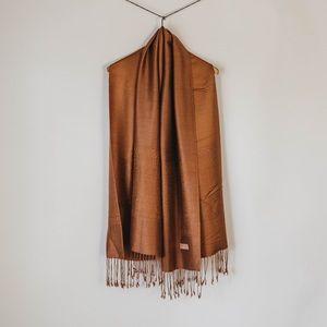 Modern Copper Silk Pashmina Scarf